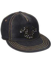 True Religion - Denim Stud Horseshoe Cap - Lyst