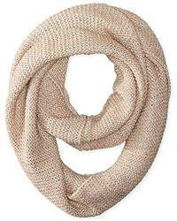 La Fiorentina - Textured Knit Snood Scarf - Lyst