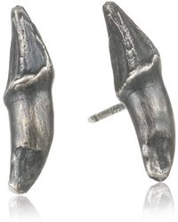Melissa Joy Manning - Criminal 737 Sterling Silver Flying Fox Claw Post Stud Earrings - Lyst