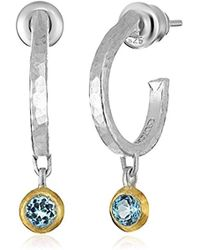 "Gurhan - ""skittle"" Sterling Silver Hoop Earrings - Lyst"