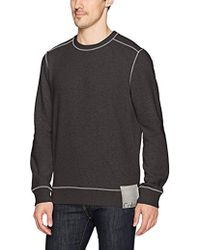 Calvin Klein - Jeans Ckj Chest Logo Crewneck Sweatshirt With Raw Edge Seams - Lyst