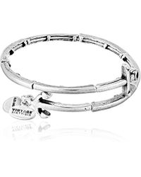 Alex And Ani Anchor Metal Wrap Bangle Bracelet Lyst