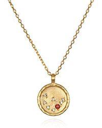 Satya Jewelry - Constellation Capricorn Red Garnet White Topaz Zodiac Necklace - Lyst