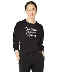 63d84f483c PUMA Glam Womens Oversized Hoodie Dress in Black - Lyst