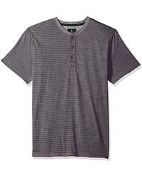 G.H.BASS - Short Sleeve Carbonized Jersey Henley - Lyst