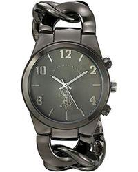 U.S. POLO ASSN. - Usc40175 Analog Display Analog Quartz Black Watch - Lyst