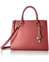 Calvin Klein - Logan Mercury Leather Satchel - Lyst