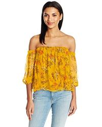 Ella Moss - Poetic Garden Off The Shoulder Blouse - Lyst