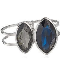 Kenneth Cole - Dark Blue And Black Diamond Marquise Shape Stone Bracelet - Lyst