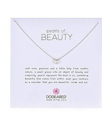 "Dogeared - Pearls Of Beauty, Small White Pearl, Chain Necklace, 16""+2"" Extender - Lyst"