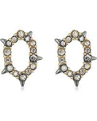 Alexis Bittar - Crystal Encrusted Spiked Stud Earrings - Lyst