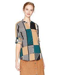 Calvin Klein - Print Roll Sleeve Top - Lyst