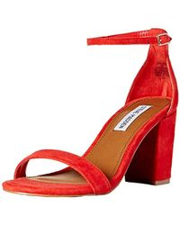 26d3eee7821 Steve Madden - Declairw Heeled Sandal - Lyst