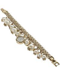 e451e8a8c65da Lyst - Michael Kors Watch Alignment Acetate Slider Charm Bracelet in ...