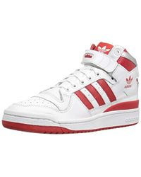the best attitude 7716f 7f7e4 adidas Originals - Forum Mid Refined Fashion Sneakers -, - Lyst