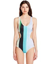 18527678e3552 Clover Canyon - Striped Eclipse One Piece Swimsuit - Lyst