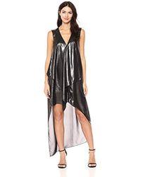 BCBGMAXAZRIA - Bcbgmax Azria Tara Woven Cascade Ruffle Metallic Dress - Lyst