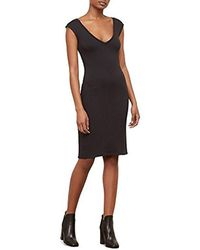 Kenneth Cole - Classic Fitted V-neck Dress - Lyst