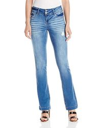 Kensie - Jeans Curvy Bootcut With Flap Back Pocket - Lyst