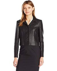 Ellen Tracy - Cropped Button Front Jacket - Lyst