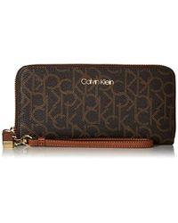 Calvin Klein - Signature Zip-around Wallet - Lyst