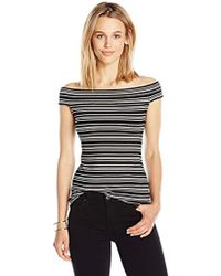 PARIS SUNDAY - Off Shoulder Ribbed Top Skirt - Lyst