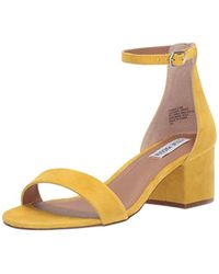 ed3df1ef95a Lyst - Steve Madden Irenee Ankle Strap Sandal in Natural