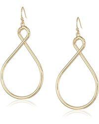 T Tahari - Hoops Looped Hoop Earrings On Fishwire, Gold, One Size - Lyst