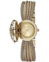 Anne Klein - Ak/1046chcv Swarovski Crystal Accented Watch - Lyst