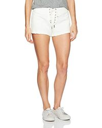 Pam & Gela - Cropped Short With Laceup - Lyst