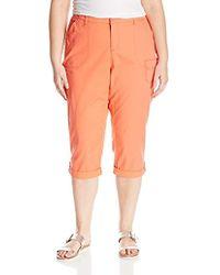 Lee Jeans - Plus Size Relaxed Fit Carsen Knit Waist Capri Pant - Lyst