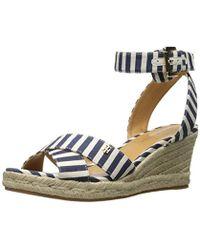 40c2b70bbb5 Tommy Hilfiger Yavino Espadrille Platform Wedge Sandals in Blue - Lyst