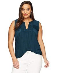 Lucky Brand - Size Plus Embroidered Tank Top - Lyst