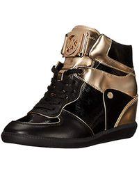 df7a46d6dfb Michael Kors - Michael Nikko High-top Black Suprema Nappa Sport Sneaker -  Lyst