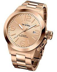 TW Steel - 'canteen' Quartz Gold Watch(model: Cb402) - Lyst