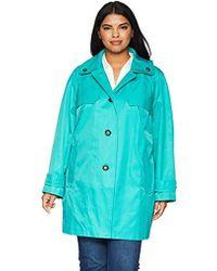 London Fog - Double Shoulder Flap Plus Size Rain Coat - Lyst
