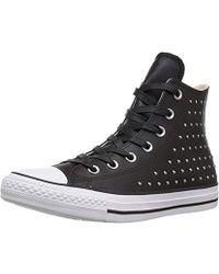 48534efb2365 Converse - Ctas Hi Black silver Sneaker - Lyst