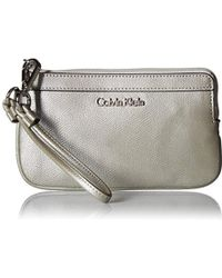 Calvin Klein - Mercury Leather Wristlet - Lyst