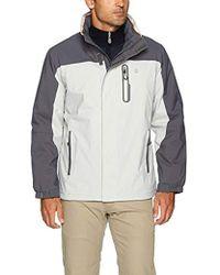 f7c41de682 Izod - Water Resistant Jacket With Fleece Lining And Hidden Hood - Lyst