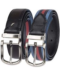 Nautica Leather Reversible Belt - Black
