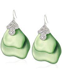 Alexis Bittar - S Crystal Encrusted Abstract Earrings, Seafoam - Lyst