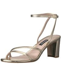 c69b9da835ff Lyst - Nine West Parlanda Ankle Strap Sandals in Natural