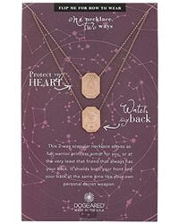 "Dogeared - Ancient Moon Rising Protect My Heart, Watch My Back, Protection Scapular Chain Necklace, 28"" - Lyst"