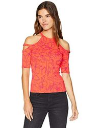 5eb9dad4f1 Guess - Half Sleeve Pandie Top - Lyst