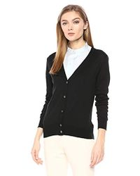 Theory - Button Up Vneck Cardigan - Lyst