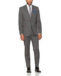 Ben Sherman - Slim Fit Two Button Windowpane Suit - Lyst