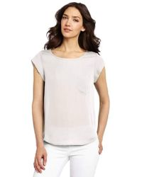 Joie - Rancher Silk Short Sleeve Pocket Top - Lyst