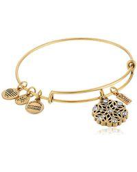 ALEX AND ANI - 2016 Snowflake Expandable Wire Bangle Charm Bracelet - Lyst