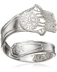 ALEX AND ANI - Spoon Hand Of Fatima Stackable Ring, Size 7-9 - Lyst
