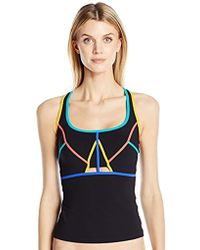 Gottex - Contrast Piping Scoop Neck D-cup Tankini Top Swimsuit - Lyst